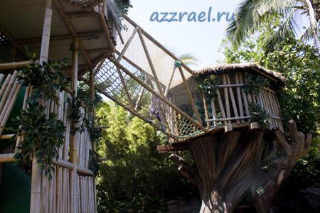 Полоса препятствий для детей в Лоро Парк Тенерифе