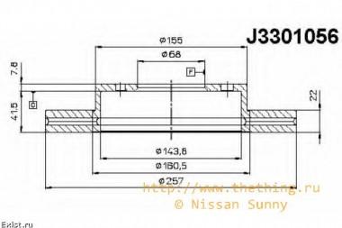 КДПВ Замена тормозных дисков на Nissan Sunny 2000 QG15