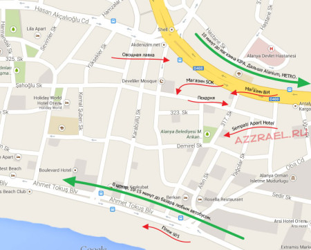 Sempati Apart Hotel карта окрестностей