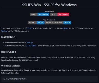 КДПВ SSHFS на Windows 10 для монтирования папки из Linux Debian 10